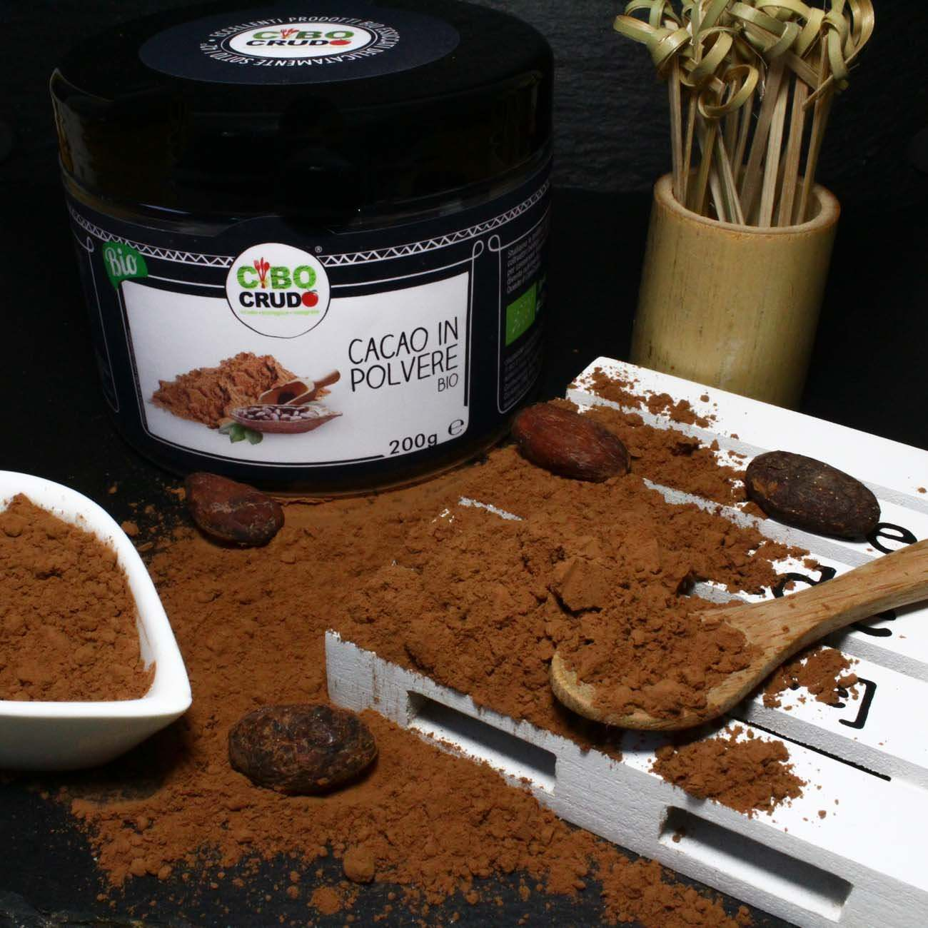 Cacao in Polvere<br/>Crudo Bio - Cocoa Powder Raw Organic - 200g