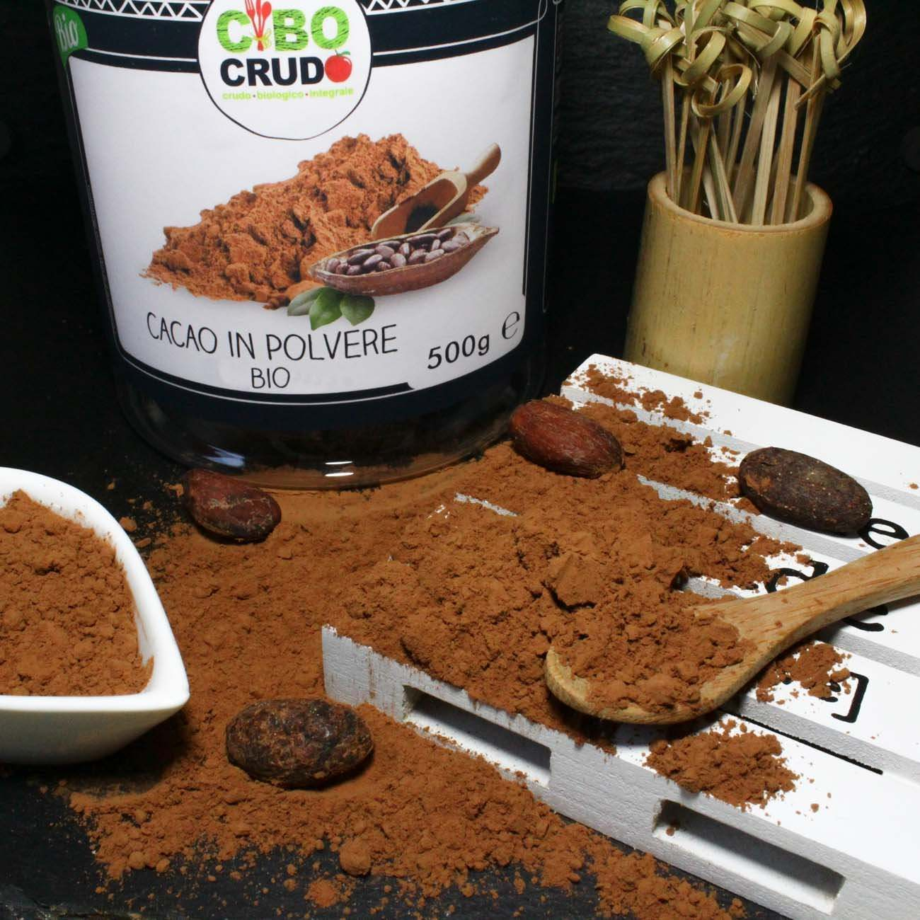 Cacao in Polvere<br/>Crudo Bio - Cocoa Powder Raw Organic - 500g