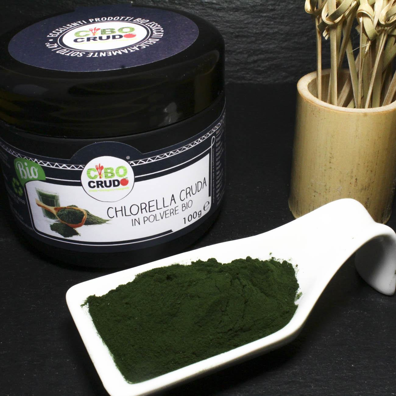 Chlorella<br/>In Polvere Cruda Bio - Chlorella Powder Raw Organic - 100g